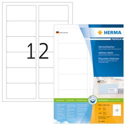 Adressetiketten Premium A4 88,9x46,6mm, weiß, Papier mattVE = 1 Packung = 100 Blatt