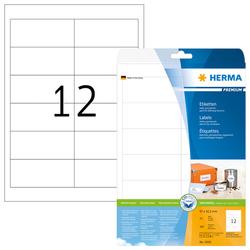 SuperPrint Universal Etiketten ws 96,5x42,3mm auf A4-Bogen,VE= 1 Packung=25 Blatt=300 Stück