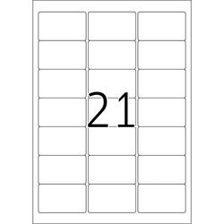 Adressetiketten A4 63,5x38,1mm ws matt 25 Blatt=525 EtikettenVE = 1 Packung = 25 Blatt