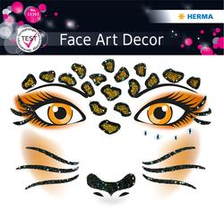 Face Art Sticker Leopard 1Bl 1Pack