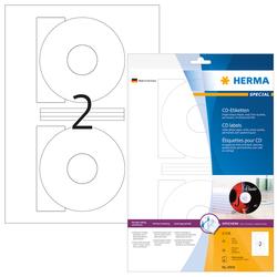 Etikett CD I+L+K 116mm ws 20St 10 Bl. f. Inkjetdruck in FotoqualitätVE=1 Packung = 10 Blatt = 20 Etiketten