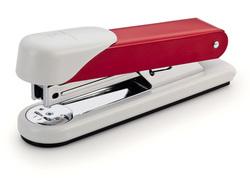 Heftgerät rot Heftleistung: 30 Blatt 24/6 Klammern, Oberlader, 65 mm