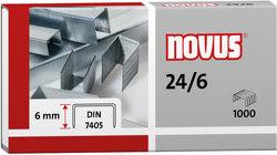 Heftklammern 24/6 DIN super verzinkt StahldrahtVE = 1 Packung = 1000 Stück