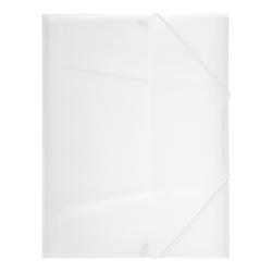 Gummizugmappe A4, 3 Klappen, Trend, transparent