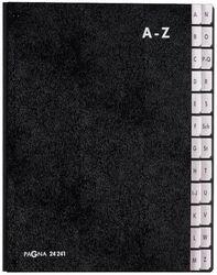 Pultordner A-Z schwarz Einband aus Hartpappe mit