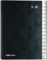 Pultordner 1-31 schwarz Einband aus Hartpappe mit