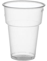 Trinkbecher PS 200ml transparent, mit FüllstrichPackung = 40 Stück