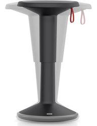 Hocker upis1, höhenverstellbar, schwarz, Maße BxH: 330 x 450-630 mm