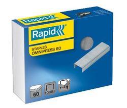 Heftklammern Omnipress 60 verzinkt Stahl, Heftleistung: 60BlattPackung = 1000 Klammern, f.SO60