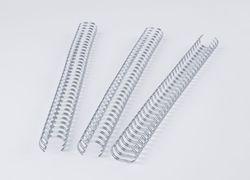 Binderücken Renz Ring Wire 3:1 8,0 mm für 60 Blatt silberPackung = 100 Stück