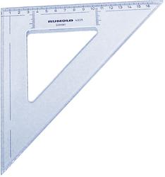 Rumold Zeichendreieck 45°, 25 cm, mm-Teilung, hochwertiger Kunststoff,