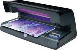 Geldscheinprüfgerät 70 schwarz zeigt UV-Merkmale von Geldscheinen