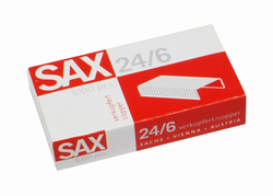 Heftklammern 24/6 DIN verkupfert, Metalldraht, heftet bis zu 25 BlattVE = 1 Packung = 1000 Stück