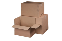 Fixkarton braun, Innenmaß: 475x310x-310 mm, m. Automatikboden,VE = 1 Pack = 10 Stück