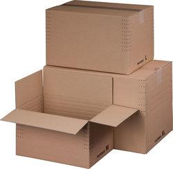 Fixkarton A5+ braun, Innenmaß: 229x164x-115 mm, m.Automatikboden,VE = 1 Pack = 10 Stück