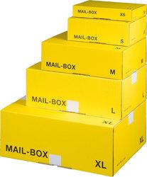 Mail-Box Versandkarton L gelb wiederverschließbar, hk
