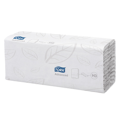 Falthandtuch Classic Plus 120 Bl. 24,8x31cm Lagenfalzung weiß 2-lagigVE = 1 Karton = 20 Packung je 120 Bl.