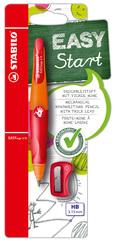 Stabilo EASYergo Duckbleistift 3.15 + Spitzer, Rechtshänder, orange/rot
