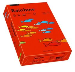 Kopierpapier Inkjet Rainbow A4 80g intensivrotVE = 1 Packung = 500 Blatt