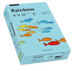Kopierpapier Inkjet Rainbow A4 80g mittelblauVE = 1 Packung = 500 Blatt