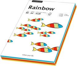 Kopierpapier Inkjet Rainbow A4 80g Intensiv-MixVE = 1 Packung = 5 x 20 Blatt