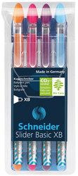 Kugelschreiber SLIDER Basic 1,4 mm Strichstärke XB, Visco Glide, colorsEtui = 4 Stifte