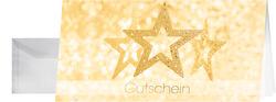 Weihnachts-Karten inkl. Umschläge. Precious Stars, GoldprägungVE = 10+10 Stück