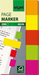 Haftmarker neon 20x50mm orange/gelb/rot/grün/rosa/bordeauxVE = 1 Stück = 200 Marker
