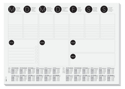 Schreibunterlage A3, 80g, 420x297mm schwarz/weiss, 30 Blatt,