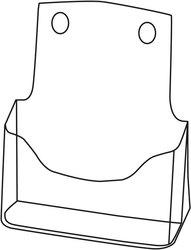 Tischprospekthalter glasklar Acryl 1 Fach DIN A5, frei stehend oder