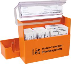 Pflasterspender orange aluderm®-aluplast gefüllt mit