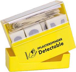 Pflasterspender gelb, Pflaster detectable gefüllt aus ABS-Kunststoff.