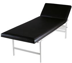 Ruheraumliege Stahlrohr Kopfteil verstellbar, schwarz