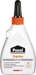 Ponal Express Holzleim, 120g Flasche, gebrauchsfertiger, wasserbasierender