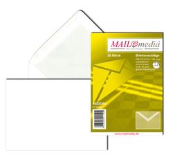 Briefumschlag C6, ohne Fenster, NK, 80 g/qm, weißVE = 1 Packung = 25 Stück