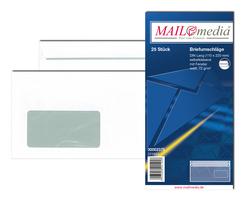 Briefumschlag DL, mit Fenster, SK, 75 g/qm, weißVE = 1 Packung = 25 Stück