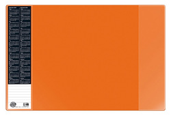 Scheibunterlage VELOCOLOR oran mit seitlichen Taschen, 40x60