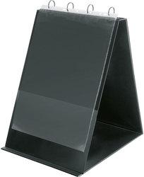 Tischflipchart A4 hoch schwarz 4-Ring Ø 20mm inkl. 10 Hüllen