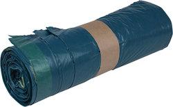Müllsäcke LDPE, mit Zugband, 120 Liter, 38 my, blau, 700 x 1100 mmVE = 1 Rolle = 25 Säcke