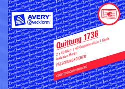 Quittung A6 quer SD 2 x 40Blatt