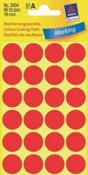 Markierungspunkte rot 18mm 4 Blatt = 96 Etiketten/Punkte