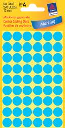 Markierungspunkte, blau, 12mm 5 Blatt = 270 Etiketten/Punkte