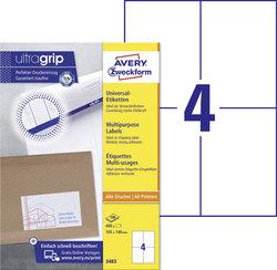 Etikett I+L+K 105x148 mm, weiß, 100 Blatt = 400 Stück