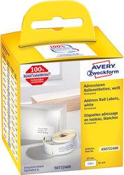 Rollenetikett 89 x 36 mm permanent haftend, weiß, 260 Stück pro RolleVE = 1 Packung = 2 Rollen