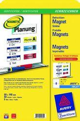 Magnetschilder 50x140 mm, weiss, mikroperforiertVE=1 Packung=5 Blatt=40 Etiketten