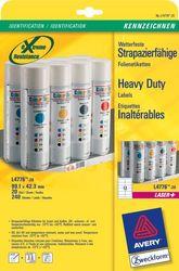 Wetterfeste Folien-Etiketten, 99,1 x 42,3 mm, weißVE = 1 Pack = 20 Blatt = 240 Stück