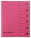 Ordnungsmappe, 6 Fächer, rosa, A4, Mappe - Karton 250 g/m2, mit