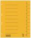 Trennblätter A4 vollfarbig gelb mit Beschriftungslinien VE = 1 Packung = 50 Stück