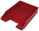 Büroring Briefkorb, rot, versetzt stapelbar