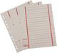 Büroring Trennblätter A4 rot chamois, farbiger Orgadruck VE = 1 Packung = 100 Stück